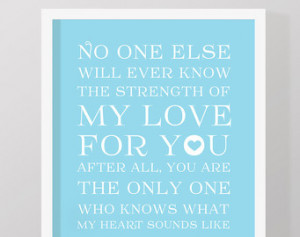 ... art, baby quotes, gift for new parents, blue kids quote print