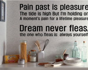 Pain Past Is Pleasure Dream Never Fleas Wall Decals