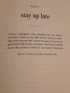 kurt cobain quote in the opening of beautiful boy more kurt cobains ...