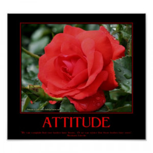 Motivational Attitude Poster Roses Thorns Quote by SmilinEyes_Posters