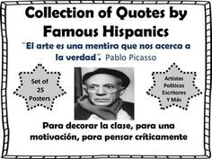 ... teachers collection of quotes by famous hispanics bulletin board set