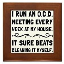 OCD Cleaning House Framed Tile for