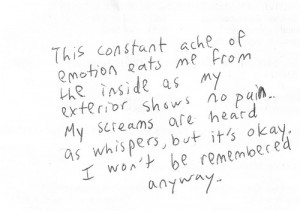 ache, emotion, feelings, pain, quote, sad, screams, typo, typography ...