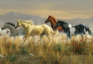 horse murals gold golden desktop wallpaper download horse murals gold ...