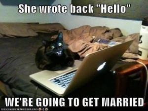 Internet happy cat: