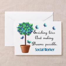 Social worker Butterfly Quote Greeting Card for