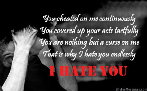 Sad I hate you poem for ex-girlfriend or ex-wife