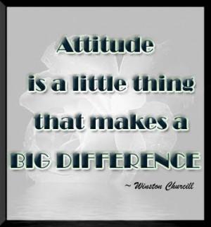 positive thinking attitude or a negative attitude come into play