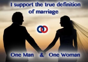 Please Support The Traditional Definition Of Marriage