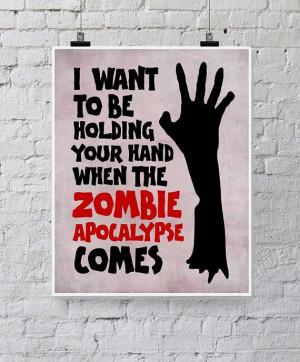 Valentine - Geekery - Funny Zombie Printable - Romantic Quote ...
