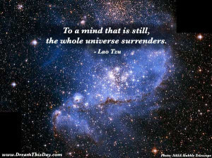 To the mind that is still ,