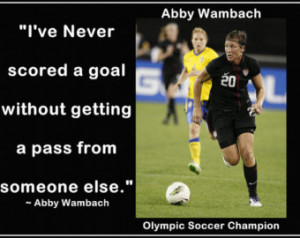 Soccer Quote Images Soccer poster abby wambach