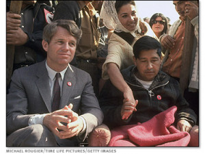 United StatesSenator Robert F. Kennedy conducted subcommittee hearings ...