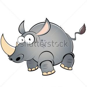 Funny Cartoon Rhino Photosculpture Photo