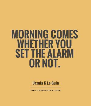 Alarm Clock Quotes