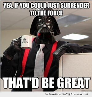 darth vader drinking tea coffee dark side force great star wars funny ...