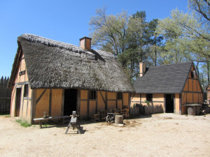 ... jamestown settlement recreated powhatan village jamestown settlement