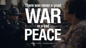 bad peace. - Benjamin Franklin Famous Quotes About War on World Peace ...