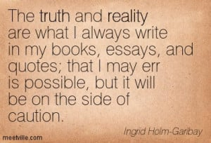 The search of truth essay
