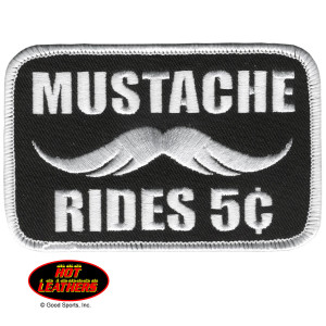 Hot Leathers Mustache Rides Patch