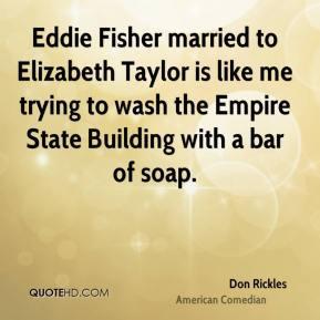 Don Rickles - Eddie Fisher married to Elizabeth Taylor is like me ...