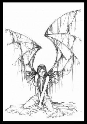 fallen angel drawing | fallen angel by bigbadglan traditional art ...