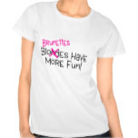Funny blonde jokes, both sides shirt