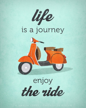 Photo of Quote poster print, Vespa scooter print, bike poster, retro ...