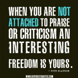 praise and criticism quotes