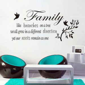 Family like branches on a tree Quotes wall decal sticker