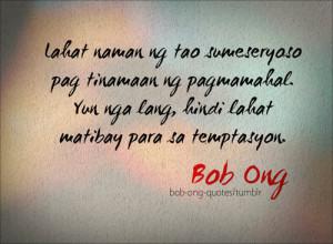 Family Quotes Tagalog By Bob Ong