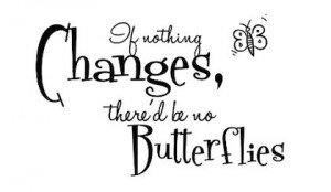 no butterflies change picture quote