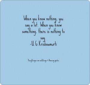 Knowledge quotes U.G. Krishnamurti | YazsyDesigns.com