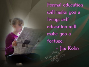 Jim Rohn Education Quote