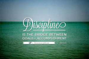 keep reality in mind. i think that discipline is seriously underrated ...