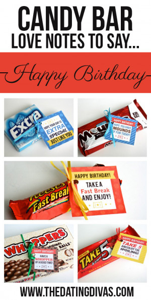 ... it ALSO includes cute Candy Bar Sayings for {almost} every occasion