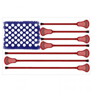 CafePress > Wall Art > Posters > Lacrosse AmericasGame Poster