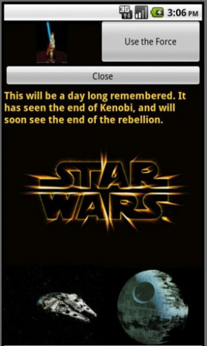 All Star Wars Quotes Sayings and Phrases have pictures.