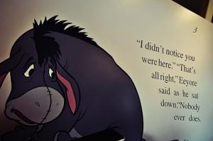 alone, aww, cute, disney, eeyore, quote, sad quote