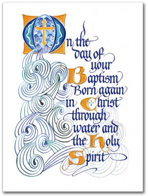 On The Day of Your Baptism Congratulations Card - Adult Baptism Card