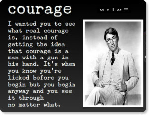 Courage in To Kill a Mockingbird