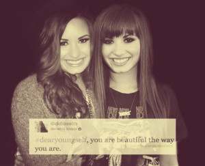 Demi Lovato inspirational quote.
