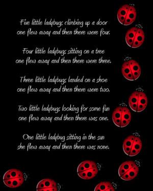Ladybug Poem Or Saying