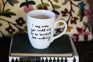 ... Quote Mug is perfect for curling up with hot tea and A DANCE WITH JANE