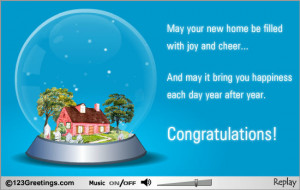 Congratulations On Your New Home Wishes