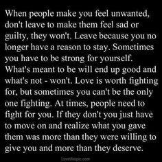 when people make you feel unwanted.....Just went through this kinda ...