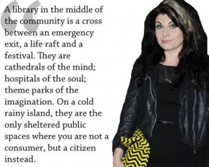 Beautiful quote about libraries by Caitlin Moran