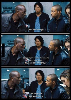 Roman Borrows Some Money From Tej In Fast and Furious 6 Meme Quote