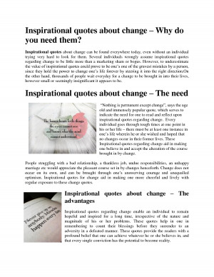 Inspirational quotes about change by karenstephen