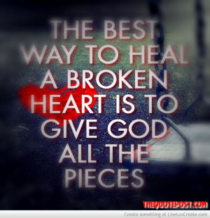 Give God all the pieces- For more great Christian quotes and posts ...